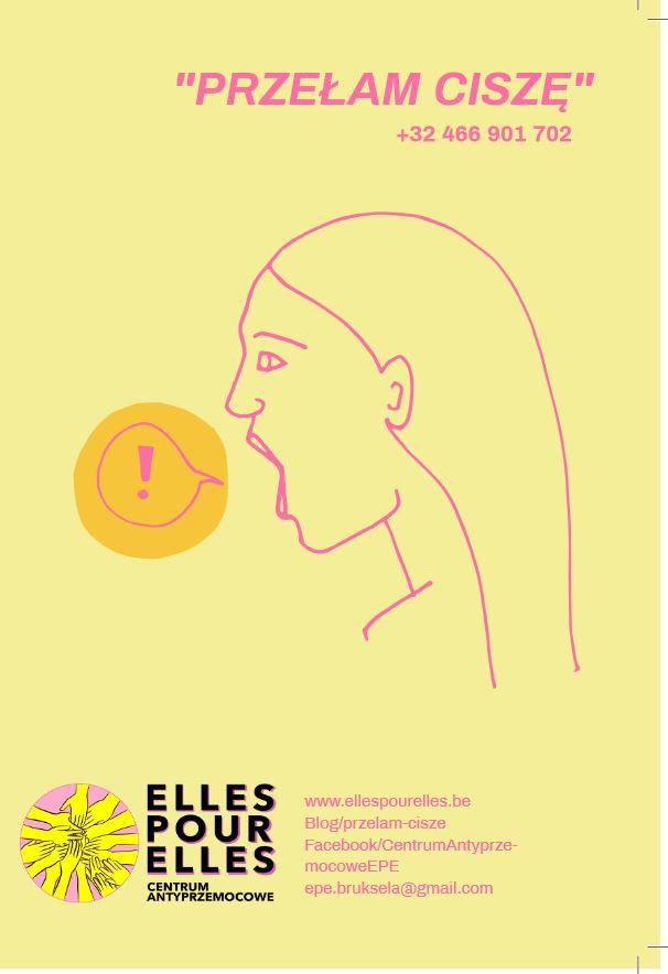 Stowarzyszenie Trampolina-partnerem projektu Elles pour Elles, Przełam ciszę, Centrum antyprzemocowe w Brukseli